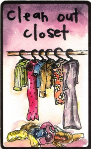 From Dori Midnight's Dirty Tarot deck: Clean Out Closet